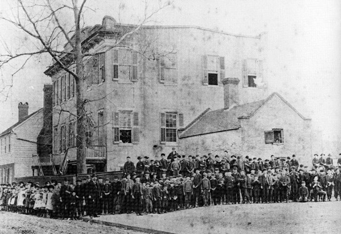 Woodrow Wilson High School's ancestry has been traced back to 1885,